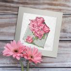 W 10326-03 Předloha ONLINE pdf - Přání - Obálka s růžemi