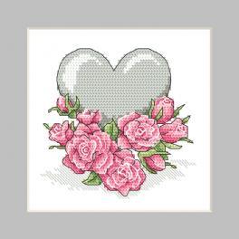 W 10326-02 Předloha ONLINE pdf - Přání - Srdíčko s růžemi