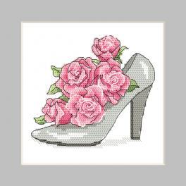 GU 10326-01 Předloha - Přání - Botička s růžemi