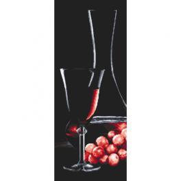 Z 10319 Vyšívací sada - Sklenice s růžovým vínem