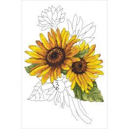 W 10322 Předloha ONLINE pdf - Majestátní slunečnice