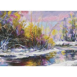 NPE 3515 Vyšívací sada - Akvarelové jaro