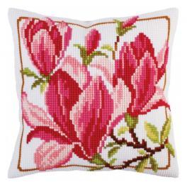 CA 5292 Vyšívací sada s potiskem - Polštářek - Květy magnolie