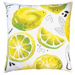 ZTCU 054 Vyšívací sada - Polštářek - Žluté citróny