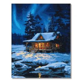 PC4050791 Malování podle čísel - Lesní domeček v zimě