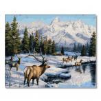 PC4050755 Malování podle čísel - Jeleni v zimě