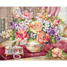 ALI 2-50 Vyšívací sada - Růže v salónu