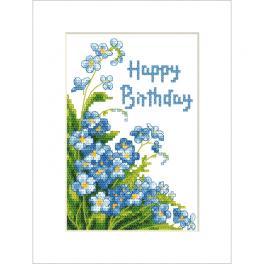 ZU 10678 Vyšívací sada - Přání - Happy Birthday