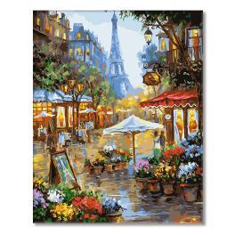 GX25578 Malování podle čísel - Uličky Paříže
