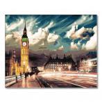 GX22077 Malování podle čísel - Londýn pod rouškou noci