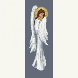 W 10465 Vzor na vyšívání v PDF - Zamyšlený anděl