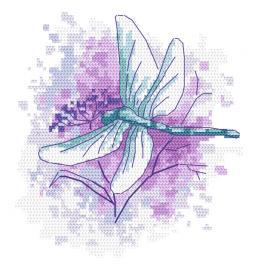 GC 10463 Vzor na vyšívání vytištěný - Vážka