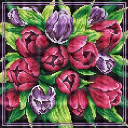 PD3030011 Diamond painting sada - Kytice tulipánů