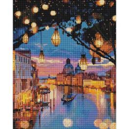 PD4050180 Diamond painting sada - Světla v Benátkách