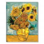 MG098 Malování podle čísel - Slunečnice - V. van Gogh