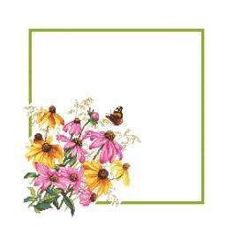 GU 10469 Vzor na vyšívání vytištěný - Ubrousek s květinami