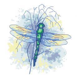 GC 10470 Vzor na vyšívání vytištěný - Safírová vážka