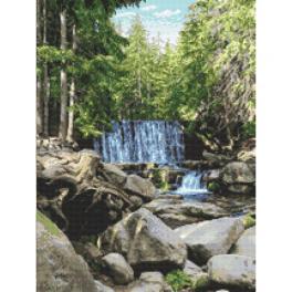 GC 10683 Vzor na vyšívání vytištěný - Divoký vodopád