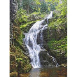 GC 10682 Vzor na vyšívání vytištěný - Horský vodopád