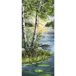 K 10468 Předtištěná kanava - Letní břízy
