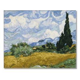 PC4050521 Malování podle čísel - Pšeničné pole s cypřiši - V. van Gogh
