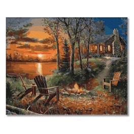 PC4050700 Malování podle čísel - Dům v hlubokém lese