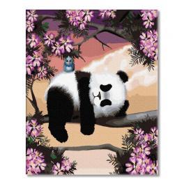 PC4050820 Malování podle čísel - O čem sní medvídek