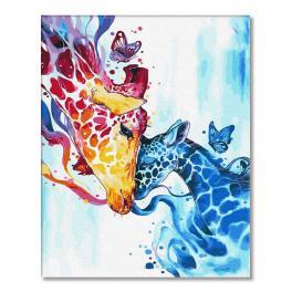 PC4050727 Malování podle čísel - Barevné žirafy