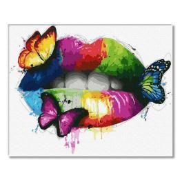 PC4050775 Malování podle čísel - Barevná ústa