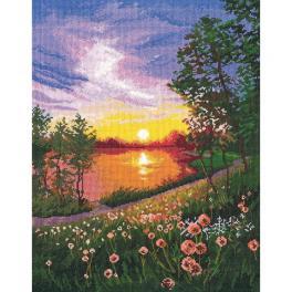 OV 1356 Vyšívací sada - Letní západ slunce