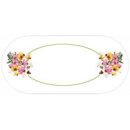 GU 10472 Vzor na vyšívání vytištěný - Oválný běhoun - Barevné květiny