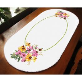 ZU 10472 Vyšívací sada - Oválný běhoun - Barevné květiny
