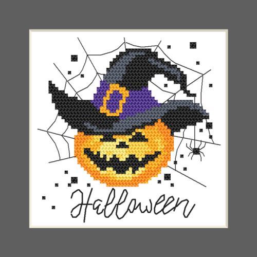 W 10473 Vzor na vyšívání v PDF - Přání - Veselý Halloween