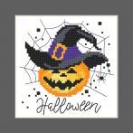 ZU 10473 Vyšívací sada - Přání - Veselý Halloween