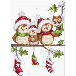 LS B1186 Vyšívací sada - Vánoční sovičky