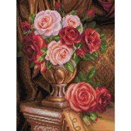 M AZ-1731 Diamond painting sada - Ušlechtilé růže