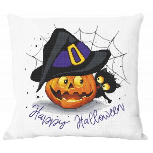GU 10475 Vzor na vyšívání vytištěný - Polštářek - Veselý Halloween