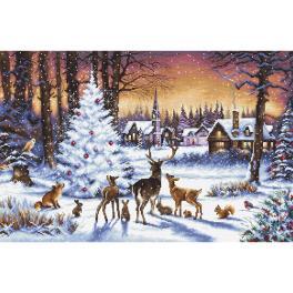 LETI 947 Vyšívací sada - Vánoční les